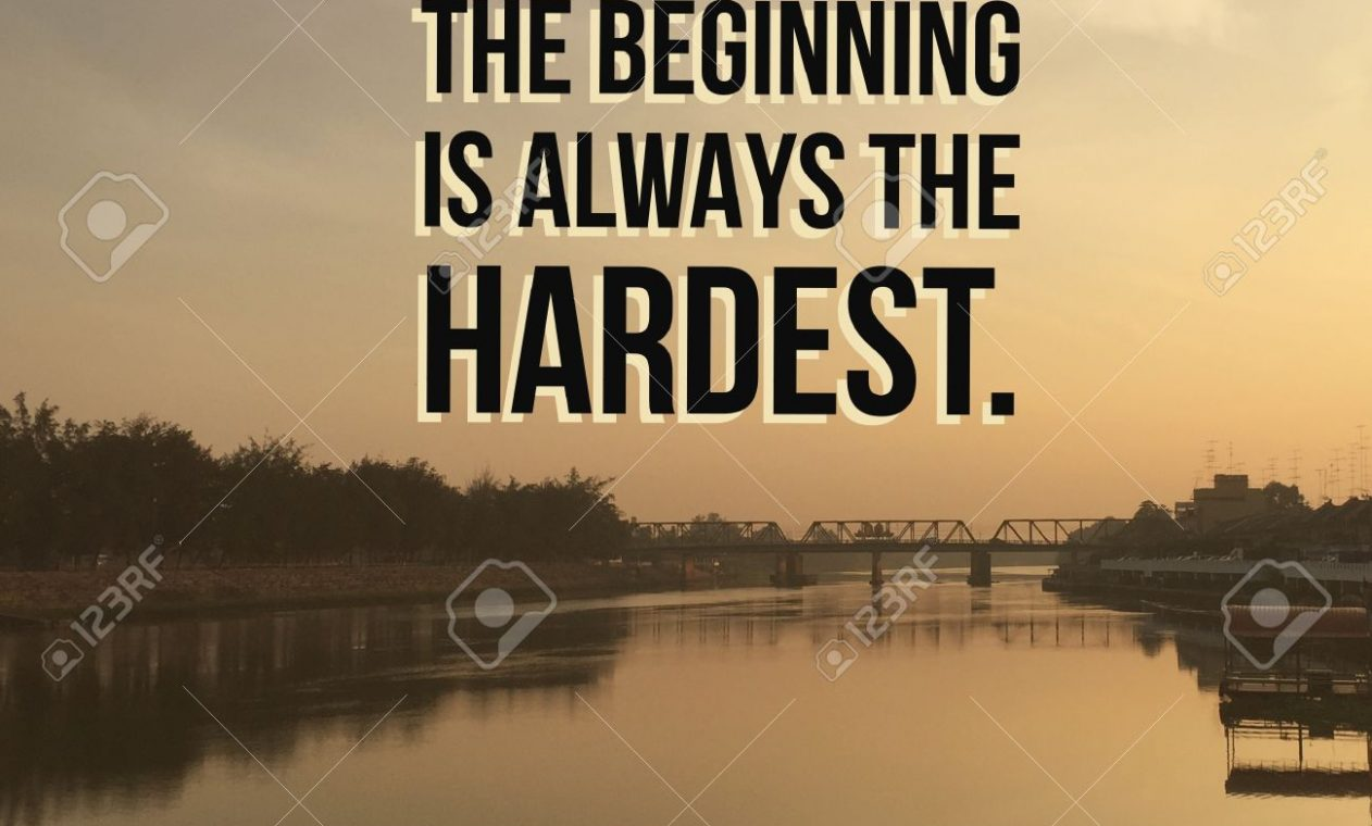 """Inspirational motivational quote """"do not give up. The beginnin"""